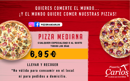 Pizza mediana a 6,95€