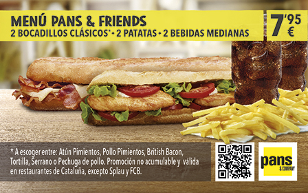 Menú Pans & Friends por 7,95€