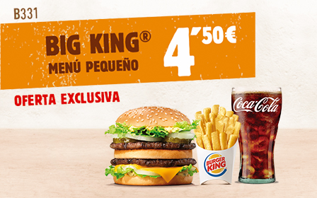 Menú Big King por solo 4,50€