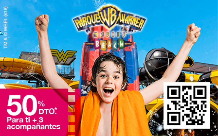 50% dto* Parque Warner Beach