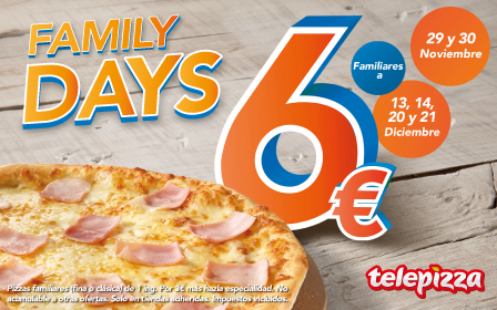 Tu Pizza familiar 6€
